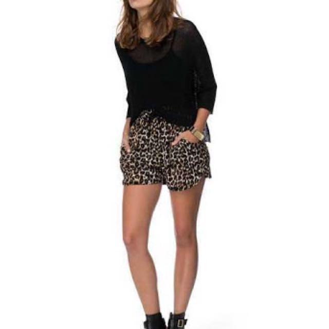 Size 6 Leopard Print Shorts