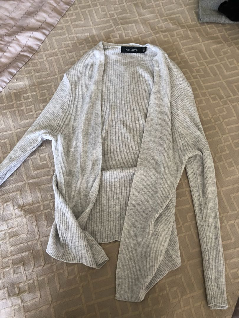 Size 8 grey stretchy cardi