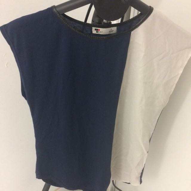 Size Small Temt Blue And White Top