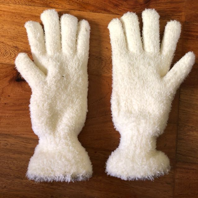 Small white gloves