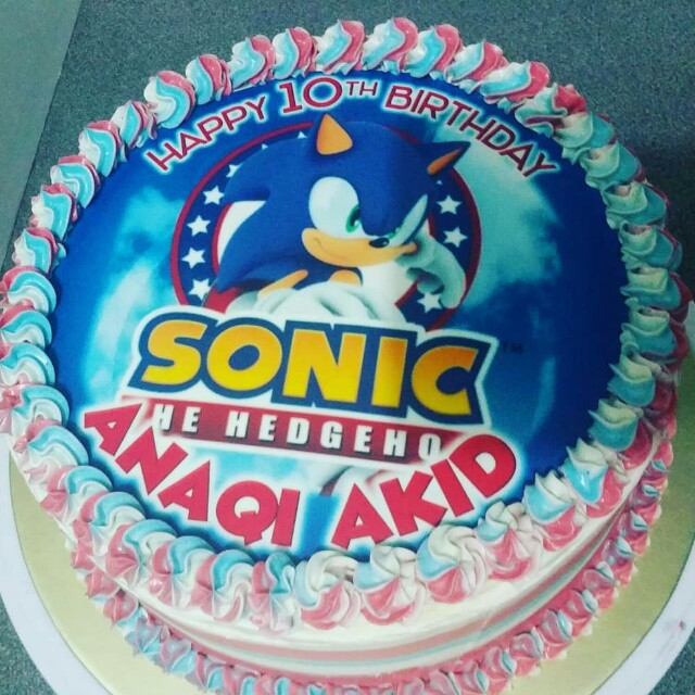 Sonic Birthday Theme Food Drinks Baked Goods On Carousell
