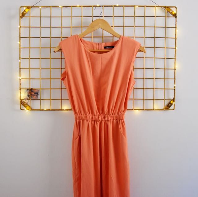 Tomato coral jumpsuit