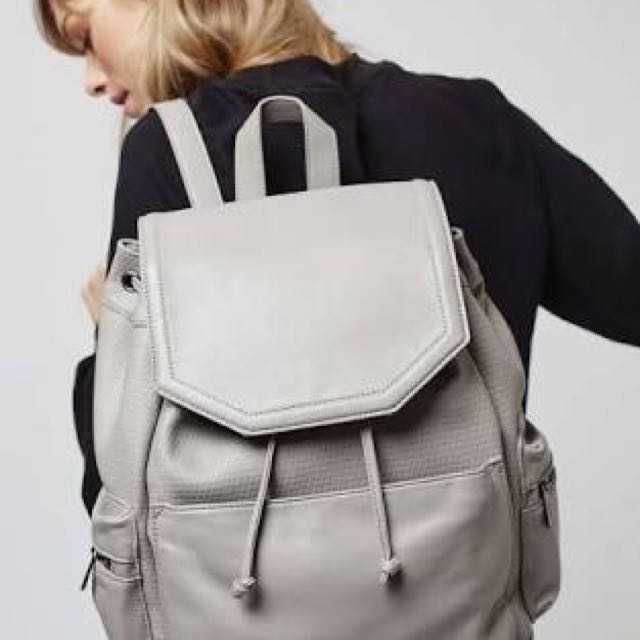 TOPSHOP Perforated backpack in grey