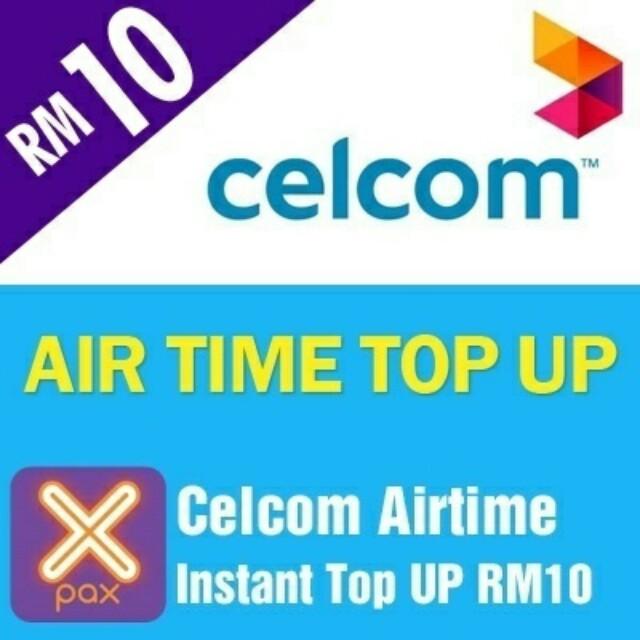 Topup Celcom RM10