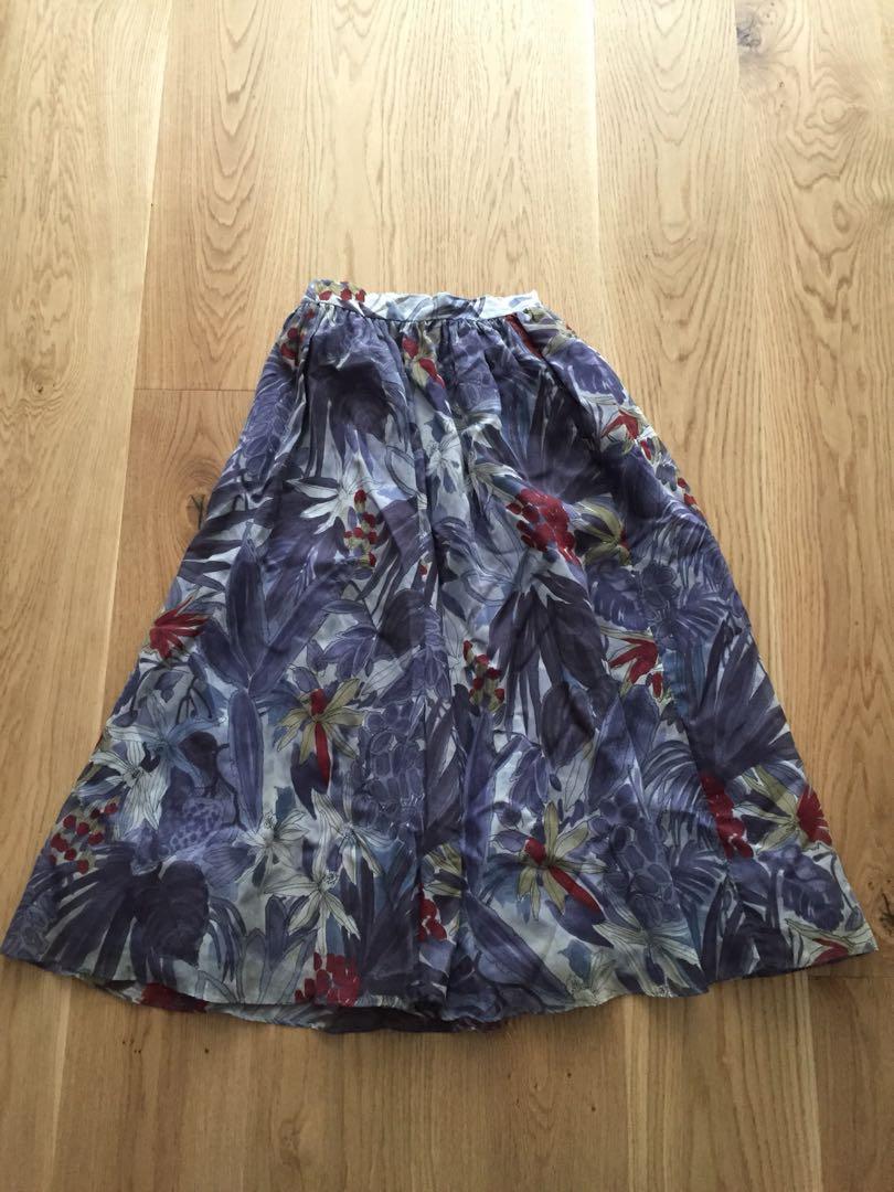 Tropical vintage skirt
