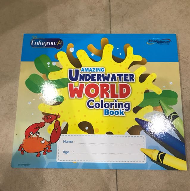 Underwater World coloring book
