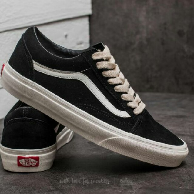 Vans Old Skool (Herringbone laces) Black/Marshmallow