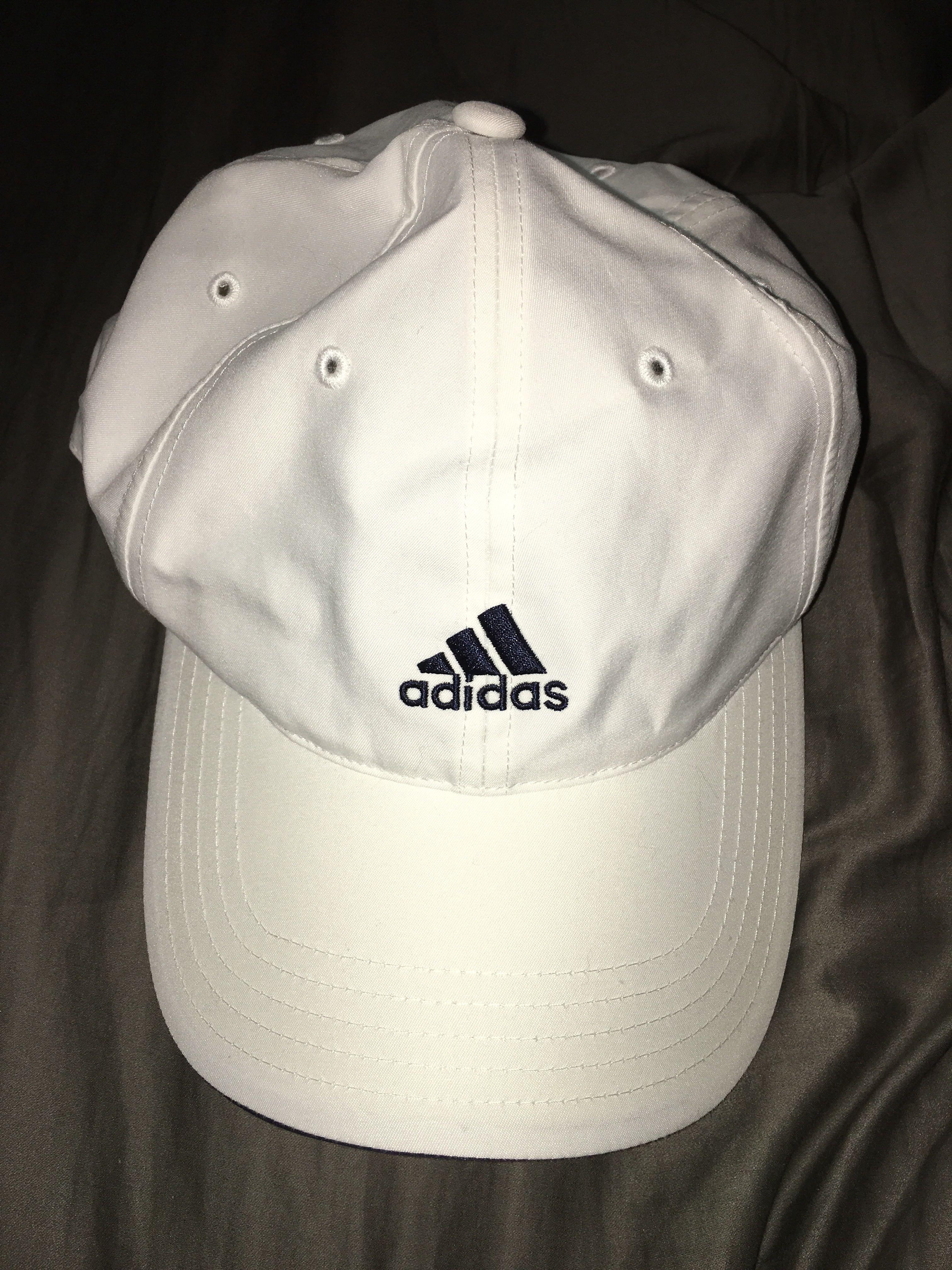 WHITE ADIDAS LOGO CAP