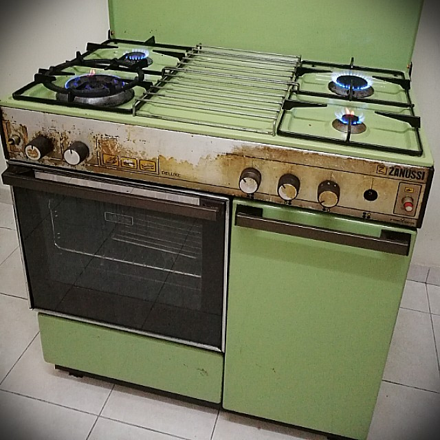 Zsi Kitchen 4 Gas Burners Freestanding Cooker Dapur