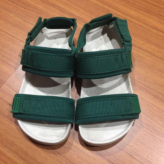 二手ZARA墨綠涼鞋童鞋31碼