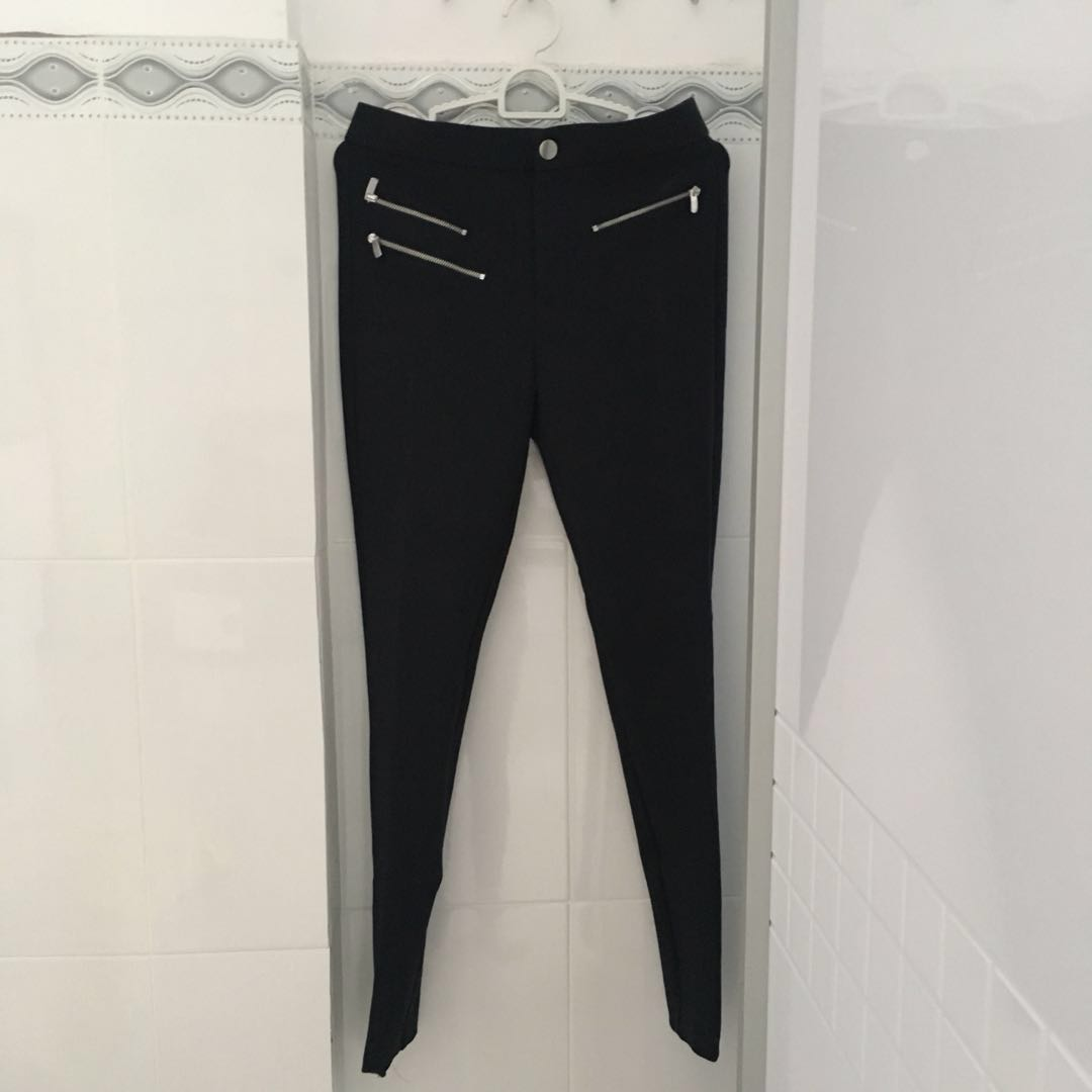 Zara trafaluc zipper jeggings
