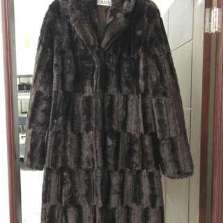 美國品牌ALFANI仿皮草大衣,長外套