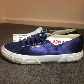 SUPERGA 2750-SATINW - Blue Navy