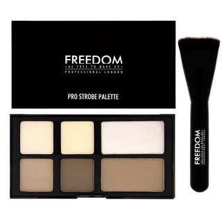 Freedom makeup london pro powder strobe palette - contour and highlight