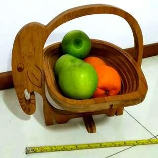 Wooden Foldable Basket