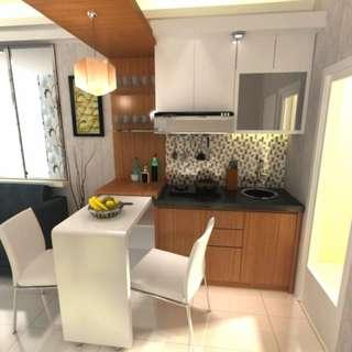 Unit murah full furnish lantai rendah Sentra Timur Residence