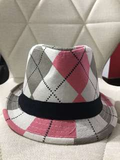 Korean Style Checkered Bucket Hat