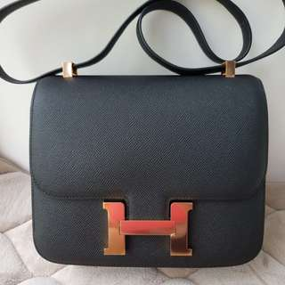 Bnib Hermes C24 Black Epsom Rosegold A