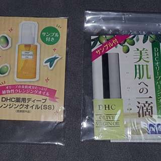 DHC Cleansing and Olive Virgin oil