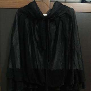 Preloved Mini Dress Kemben Hitam Material Chiffon Ada Furingnya Fit to L dada bs melar