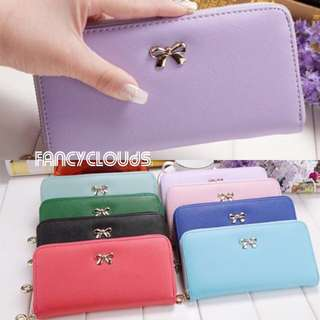 8 Slots Women Long Wallet New Korean Ulzzang