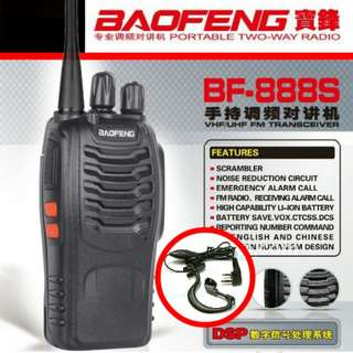 BaoFeng UHF/VHF Walkie Talkie - BF888s with Earpiece