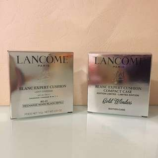 Lancôme Blanc Expert cushion compact light coverage refill bo-01 plus compact case limited edition Gold wonders ! 100%new !