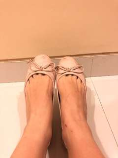 Flat shoes pretty fit pink original sz 35