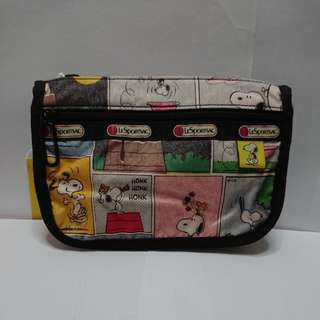 LeSportsac Travel Cosmetic in Snoopy Patchwork