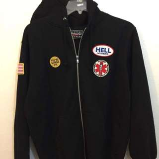 Supreme X Hysteric Glamour Black Patch Zip Up Size Large
