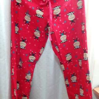 🚚 可愛的紅色猴子睡褲