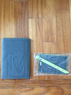 MTV passport holder and luggage tag