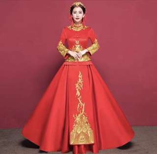 Brand New High Traditional Embroidery wedding dress