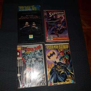 Retro vintage comics manga bundle Batman Spiderman marvel dc superman