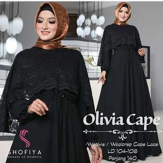 WDD - 0218 - Dress Busana Muslim Wanita Olivia Cape