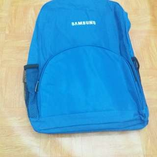 Samsung backpack for laptop blue color