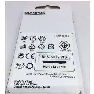 全新!原廠Olympus 相機專用BLS-50電池 NEW! Olympus camera BLS-50 Battery