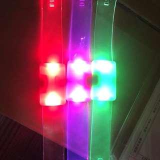 《環保價》$10/3條 💡閃燈手帶可兩段調教,閃燈或亮燈