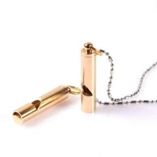 EDC Brass Whistle Pendant