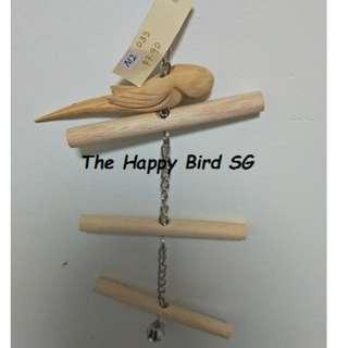 M2 33 - Parrot Bird Wooden Ringneck Hanging Chew Toy