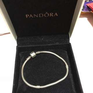 Pandora charm Bracelet - Sterling Silver 17cm