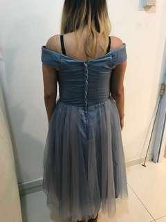 Bridesmaid dress - midi length off shoulders