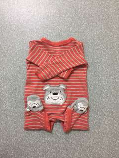 Carter's Red stripe baby romper NB