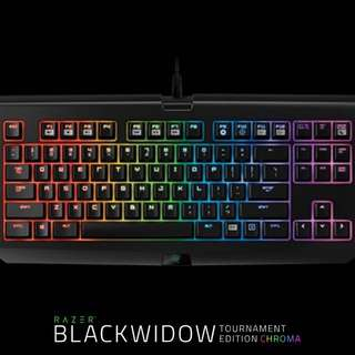 Black widow tournament edition chroma official razer gaming keyboard // instock