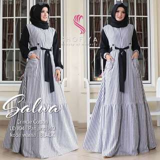 WDD - 0218 - Dress Busana Muslim Wanita Salwa