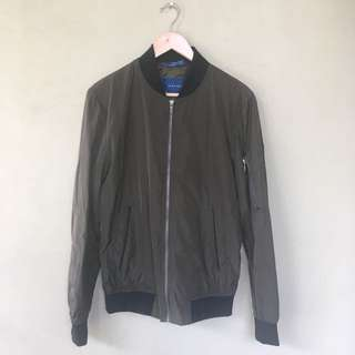 Zara Man Bomber Jacket Army