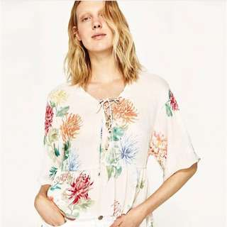 Floral Kimono Belted Top