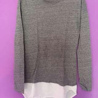 Kaos gray white