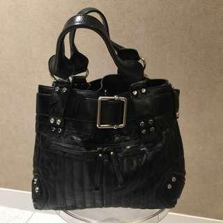Karen Millen black leather bag