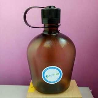 1litre Brown Nalgene Flat Water Bottle